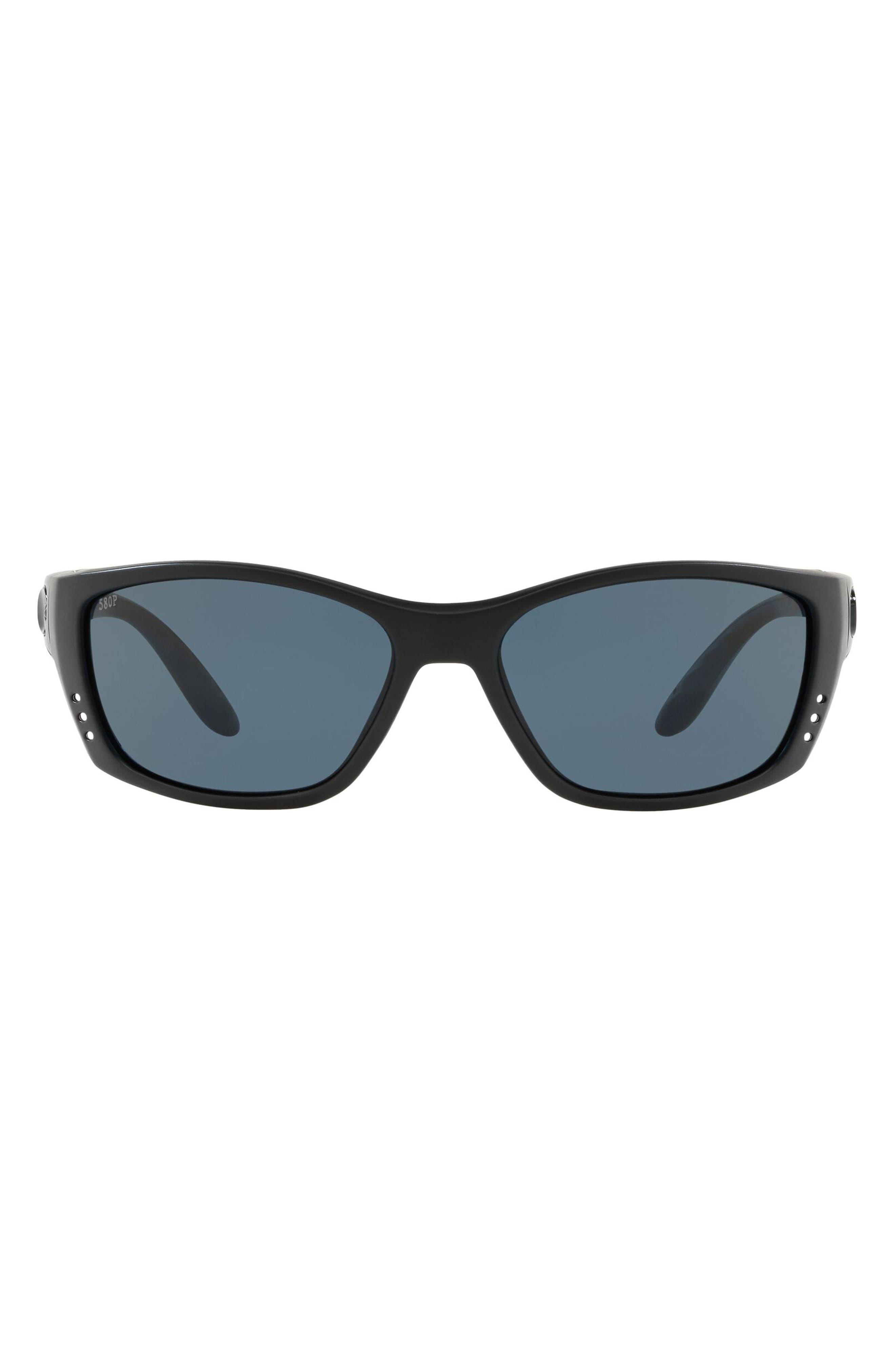 64mm Polarized Wraparound Sunglasses