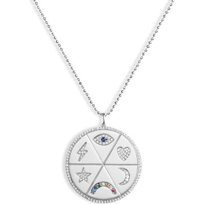 Ef Collection All The Feels Diamond Pendant Necklace