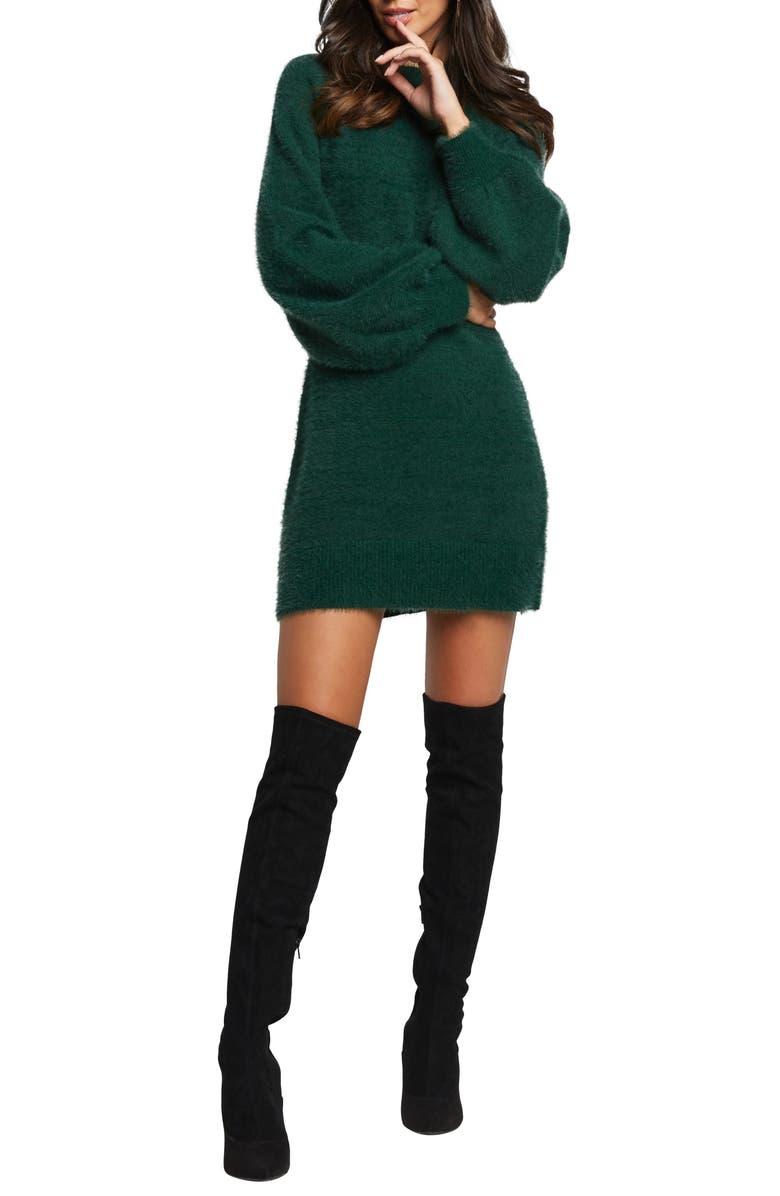 BARDOT Long Sleeve Sweater Dress, Main, color, 300