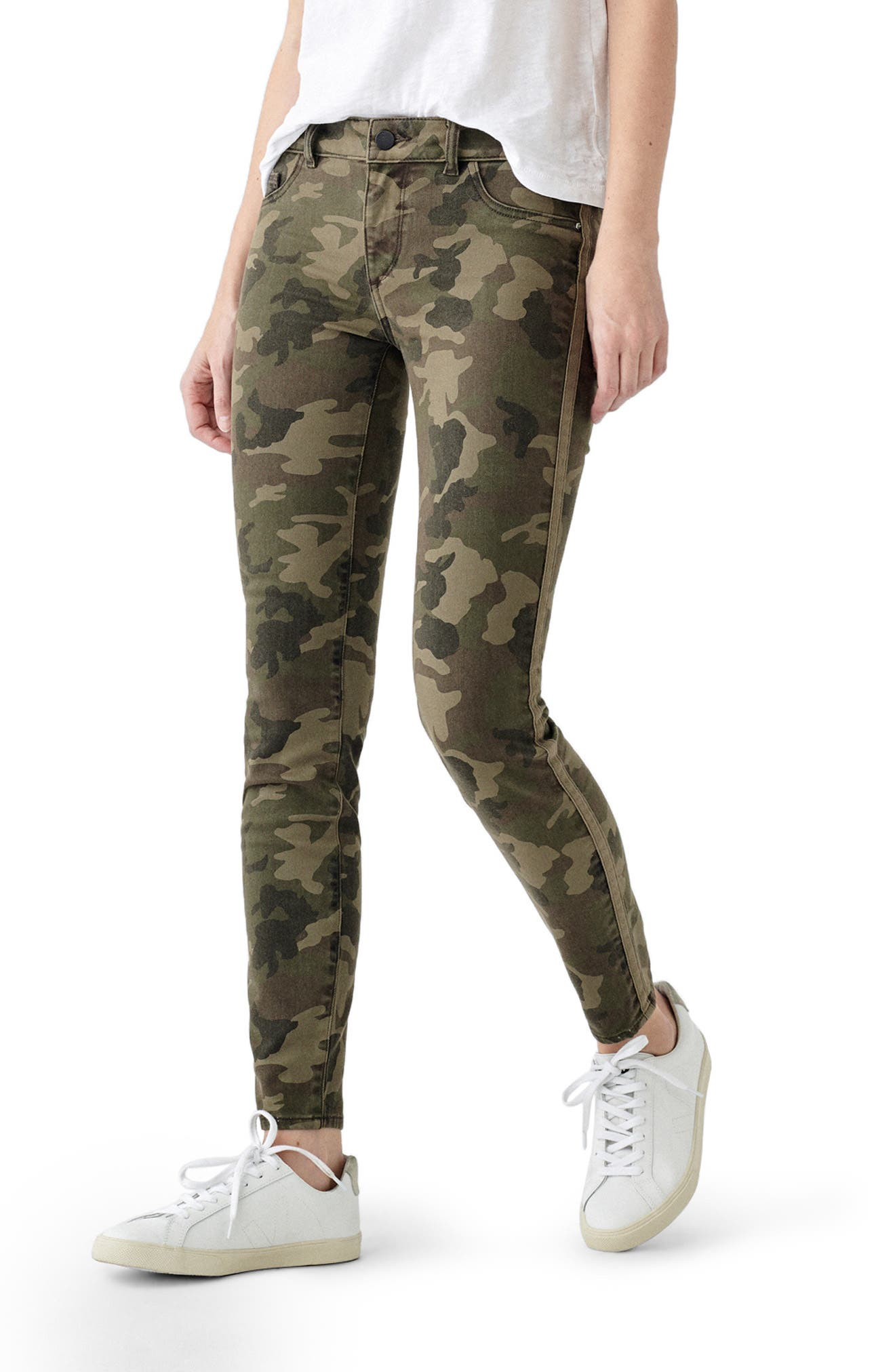 1961 Florence Camo Mid Rise Skinny Jeans