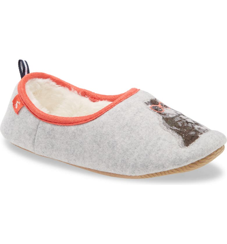 JOULES Slippet Faux Fur Lined Slipper, Main, color, GREY CAT