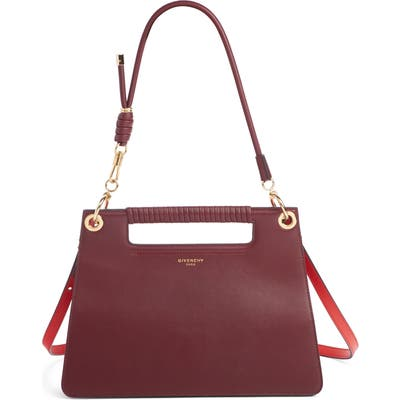 Givenchy Medium Whip Leather Top Handle Bag - Burgundy