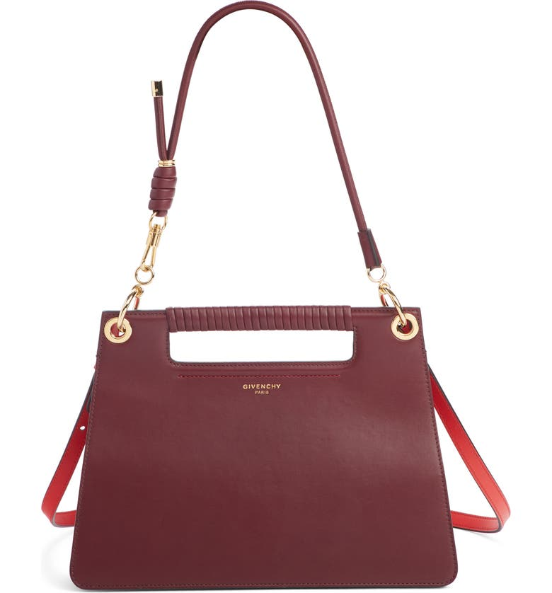 GIVENCHY Medium Whip Leather Top Handle Bag, Main, color, AUBERGINE
