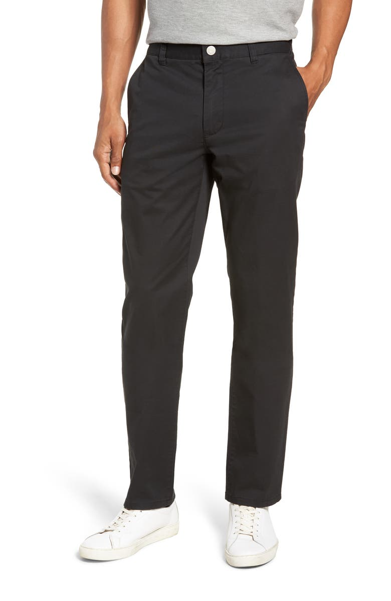 BONOBOS Slim Fit Stretch Washed Chinos, Main, color, JET BLACK
