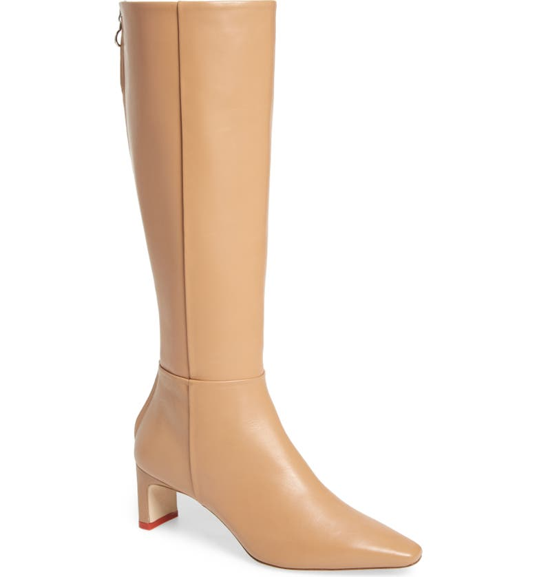 AEYDE Sidney Knee High Leather Boot, Main, color, HAZELNUT