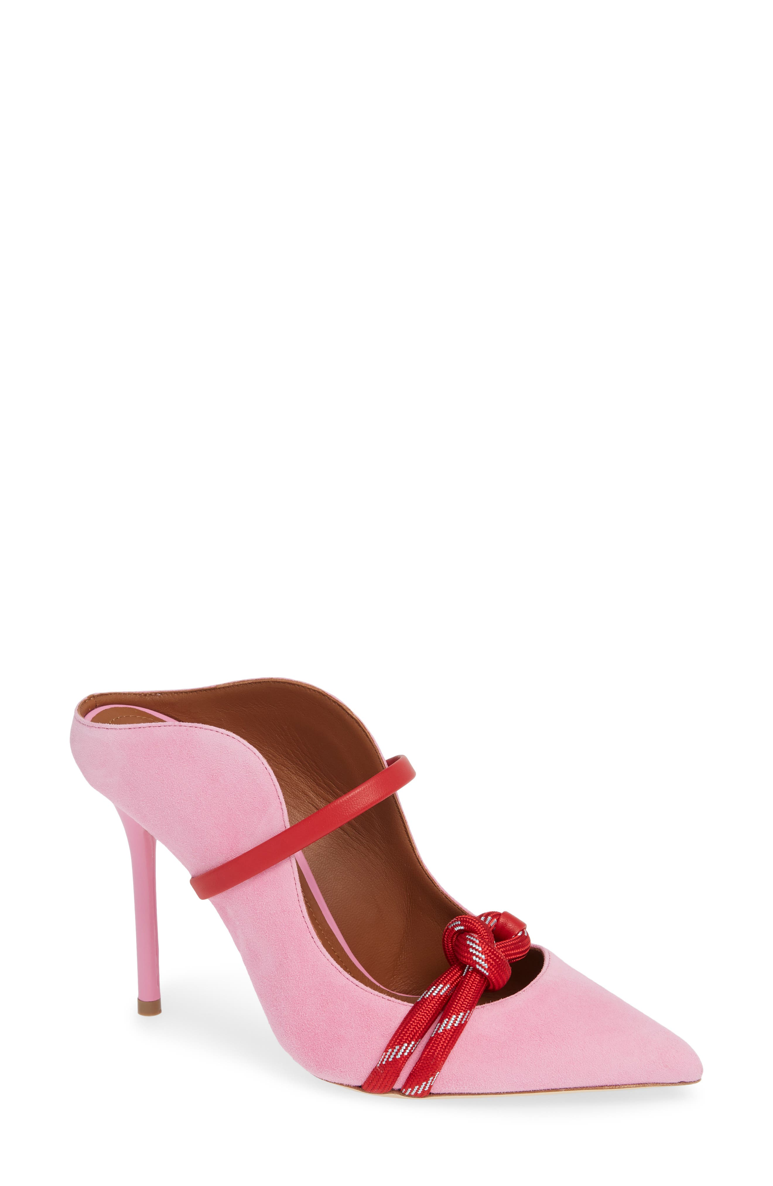 Malone Souliers Rope Pump - Pink