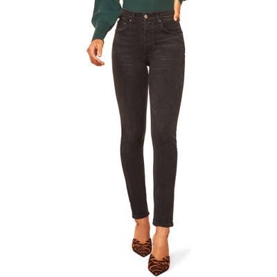 Reformation Serena High Waist Skinny Jeans, Black