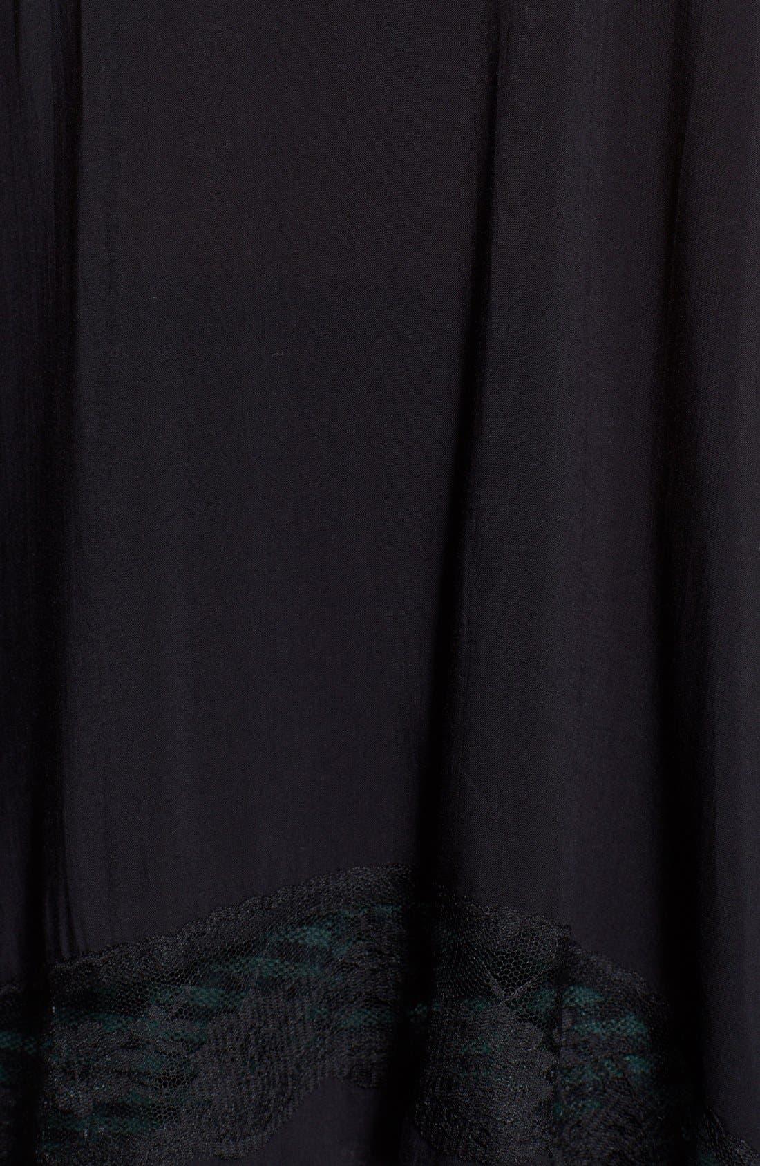 ,                             Lace Trim Handkerchief Hem Tank,                             Alternate thumbnail 3, color,                             001