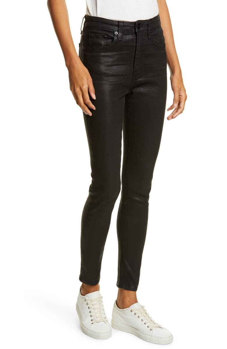Black Coated Jeans | Gap
