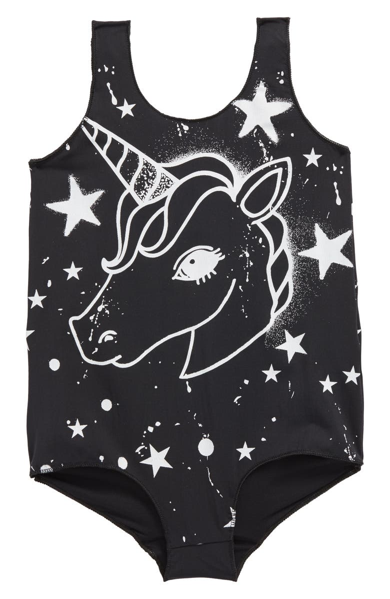 PLASTIC JUS Unicorn One-Piece Swimsuit, Main, color, 001