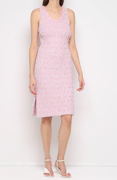 Fringe Tweed Sheath Dress, video thumbnail