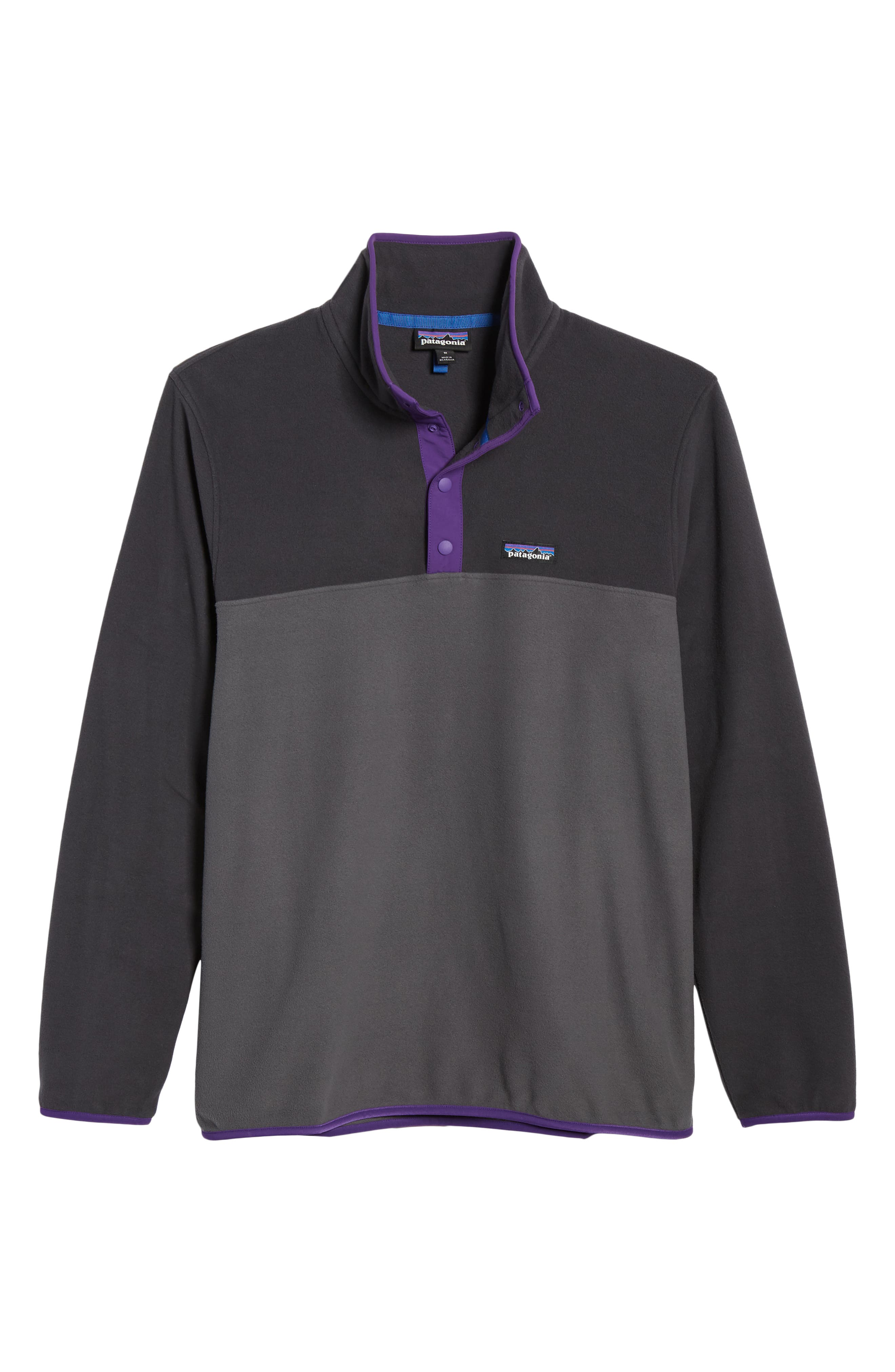 ,                             Micro-D<sup>®</sup> Snap-T<sup>®</sup> Fleece Pullover,                             Alternate thumbnail 7, color,                             FORGE GREY