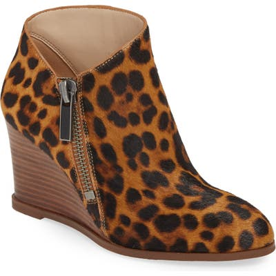1.state Kaleb Genuine Calf Hair Wedge Bootie, Brown