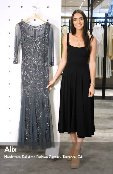 Beaded Mesh Gown, sales video thumbnail