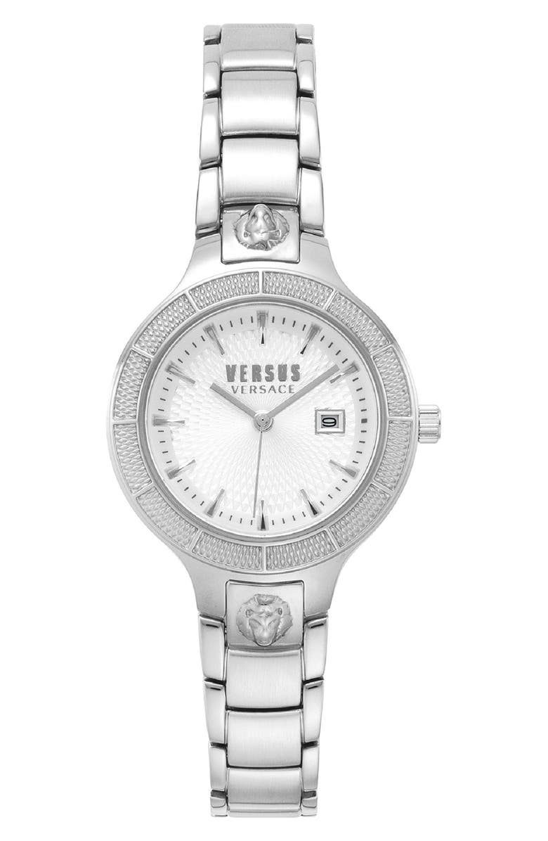 VERSUS VERSACE Claremont Bracelet Watch, 32mm, Main, color, SILVER