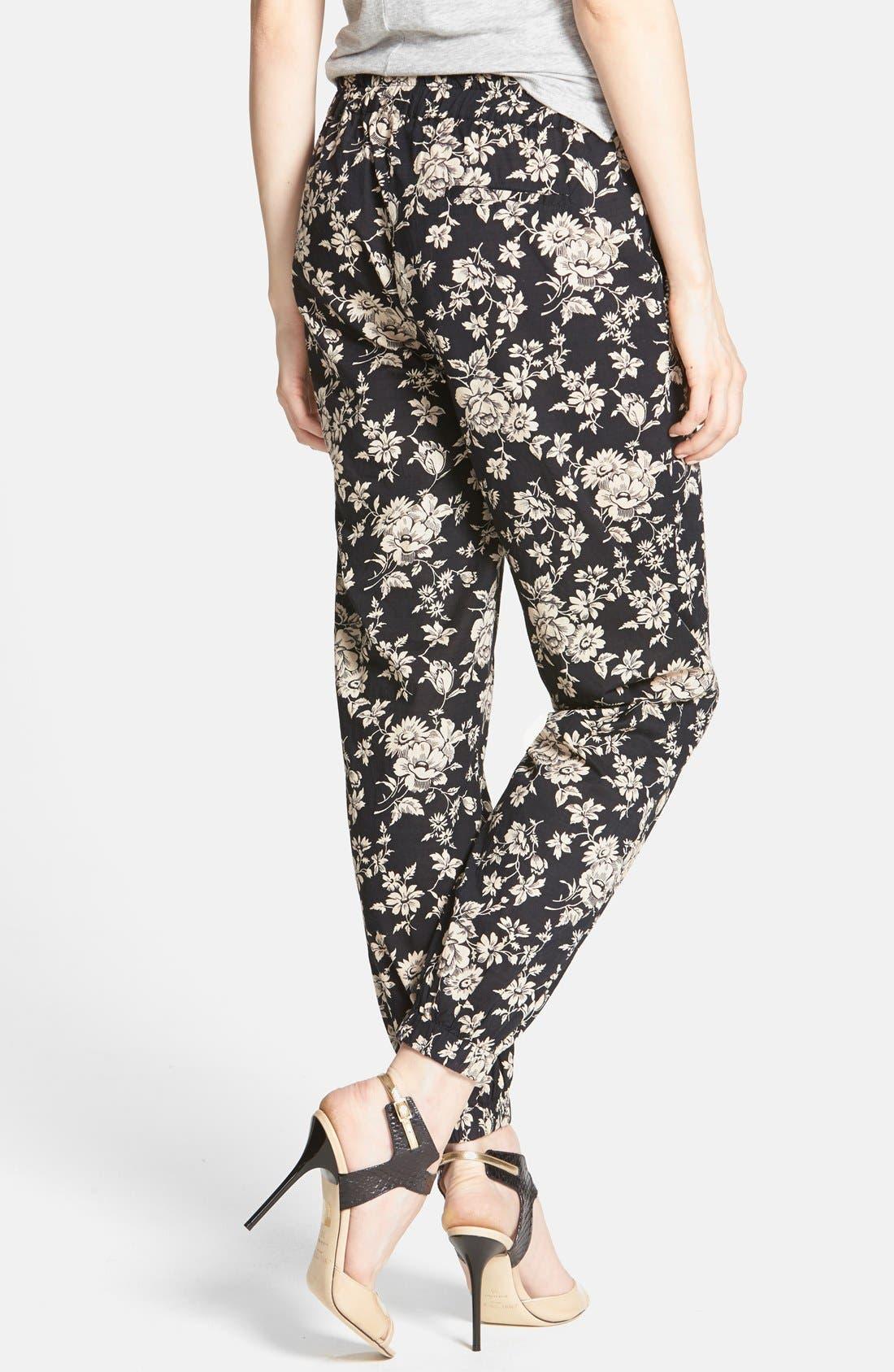 ,                             Beaded Floral Print Lounge Pants,                             Alternate thumbnail 2, color,                             001