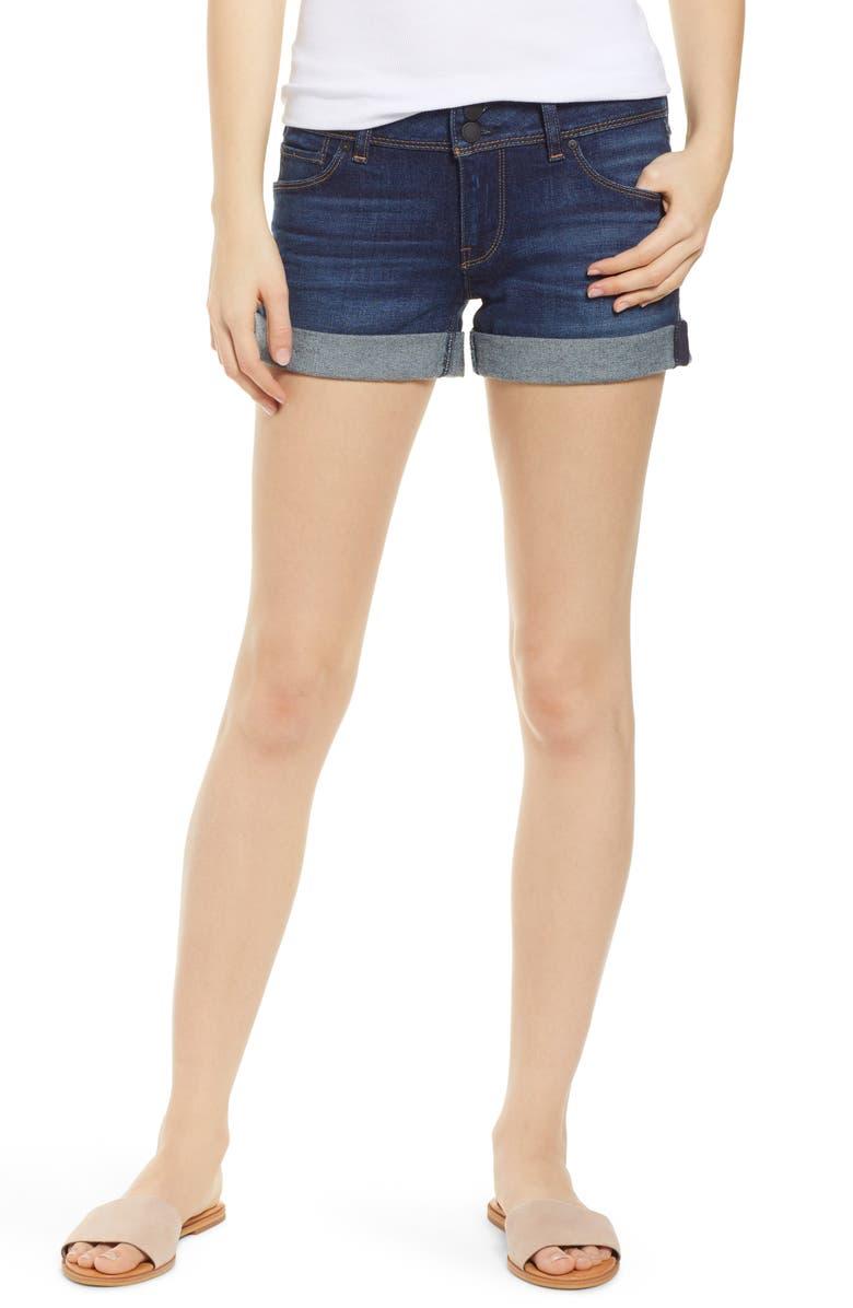 HUDSON JEANS Croxley Cuffed Denim Shorts, Main, color, NIGHTFALL