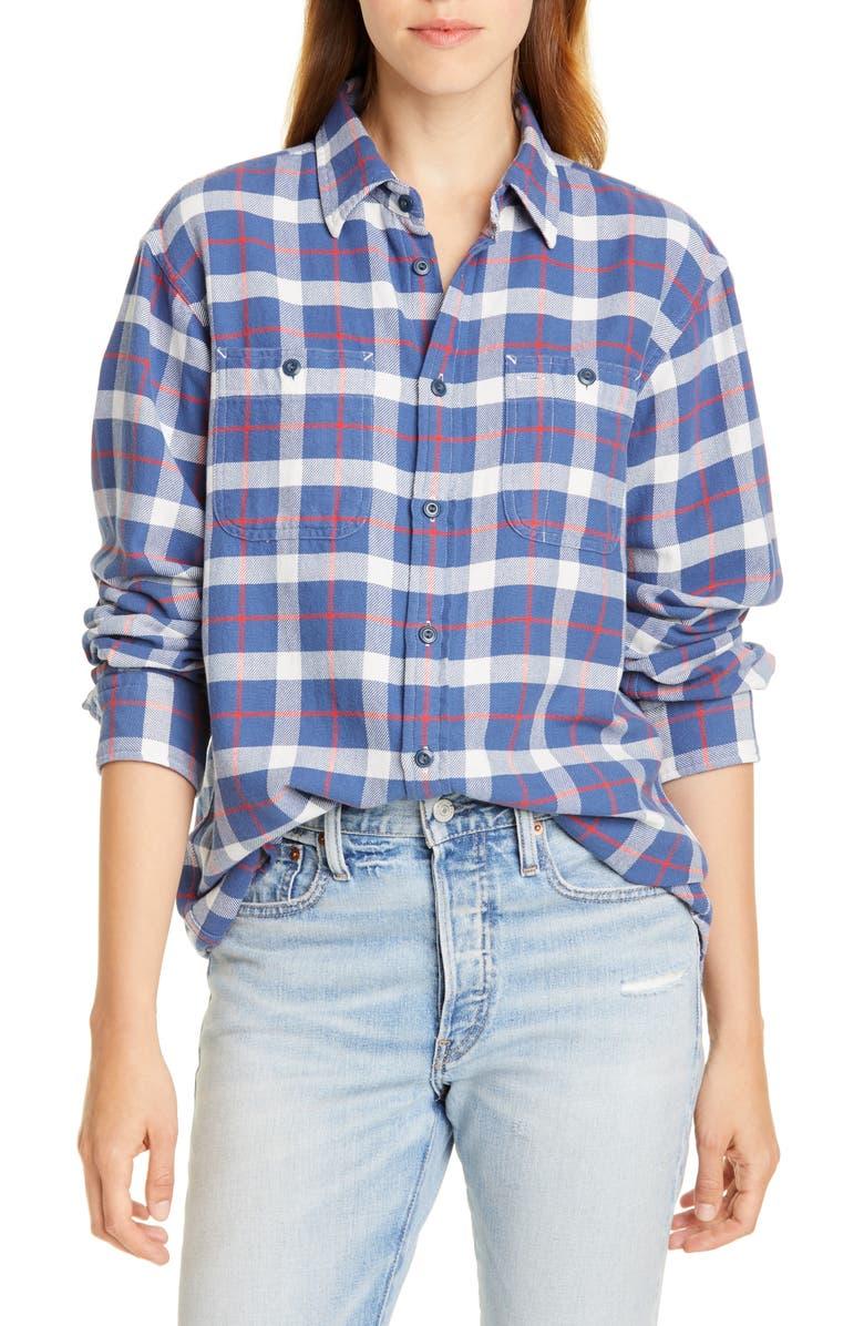 POLO RALPH LAUREN Plaid Shirt, Main, color, 400