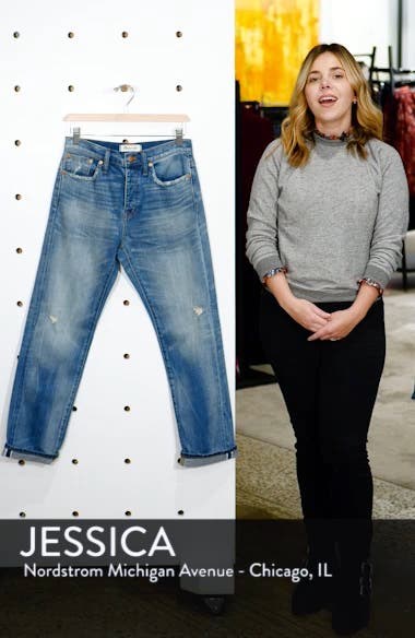 Selvedge Distressed Straight Leg Jeans, sales video thumbnail