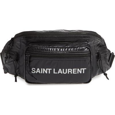Saint Laurent Logo Nylon Belt Bag - Black