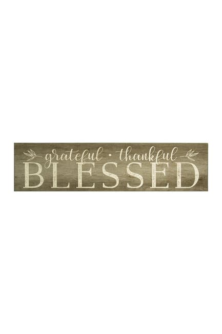 Image of Stratton Home Neutral Grateful, Thankful, Blessed Wall Art