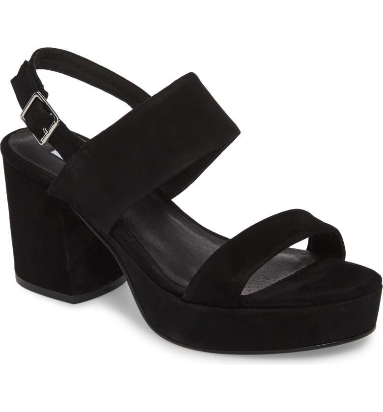 STEVE MADDEN Reba Slingback Platform Sandal, Main, color, 006