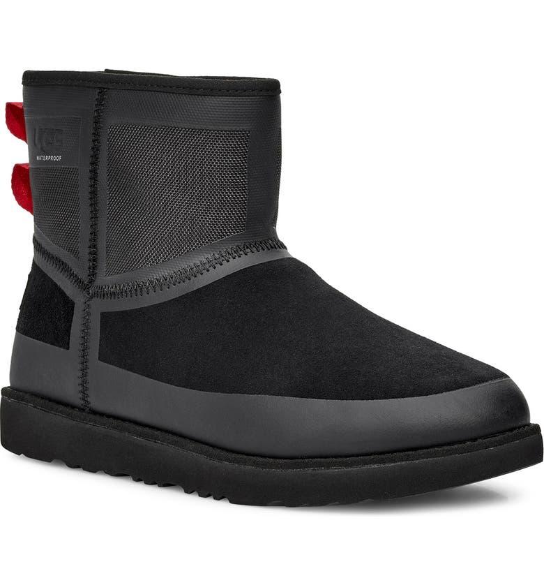 UGG<SUP>®</SUP> Classic Mini Urban Tech Waterproof Boot, Main, color, BLACK