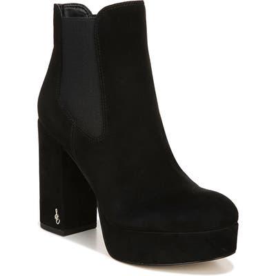 Sam Edelman Abella Platform Chelsea Boot- Black