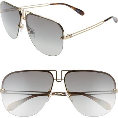 Givenchy Oversize Aviator Sunglasses - Gold/ Grey
