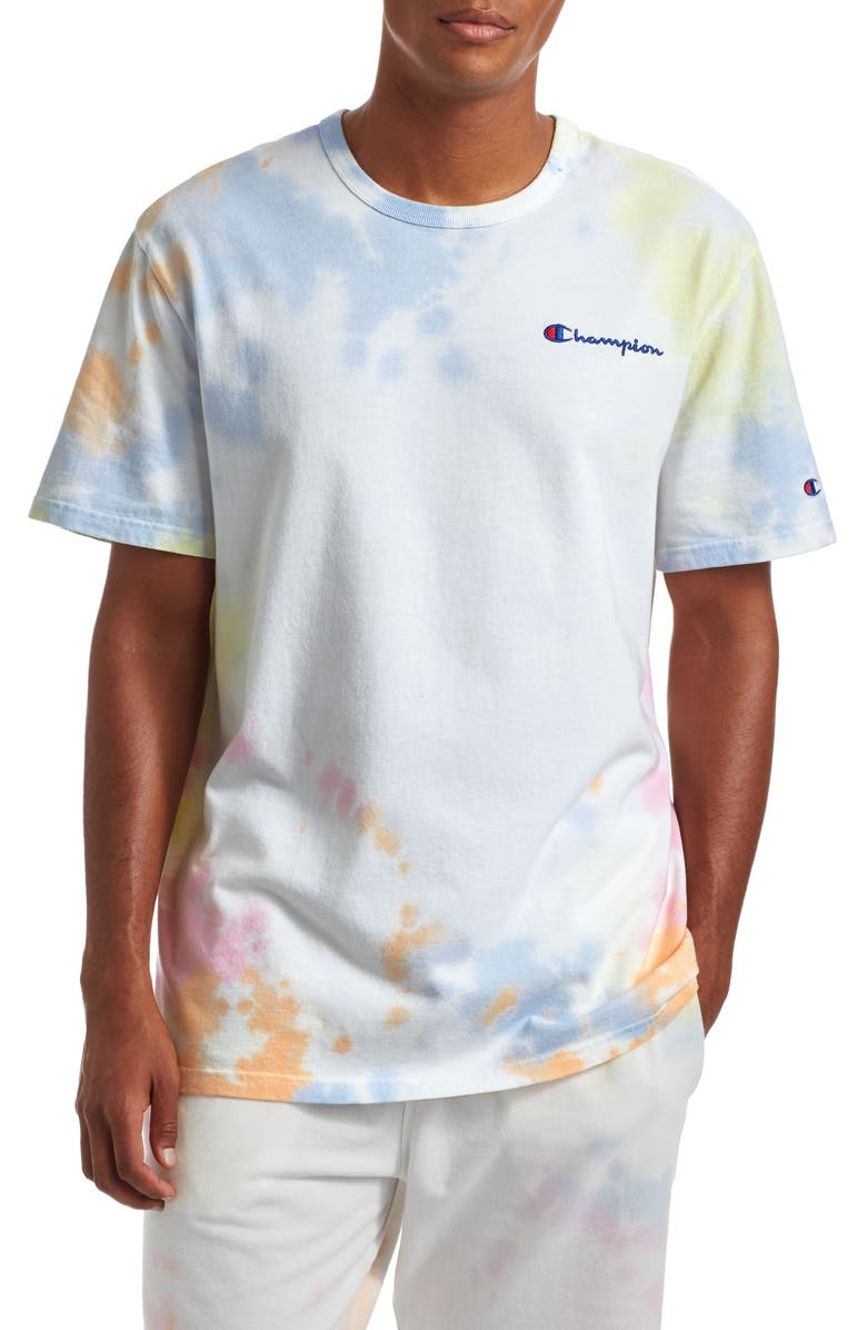CHAMPION Cloud Dye T-Shirt, Main, color, CLOUD DYE WASH MULTI