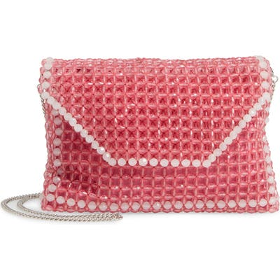 Trouve Beaded Clutch - Pink