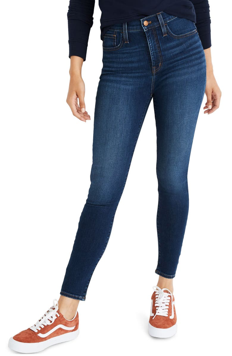 MADEWELL Roadtripper High Rise Ankle Zip Jeans, Main, color, BELREEVE WASH