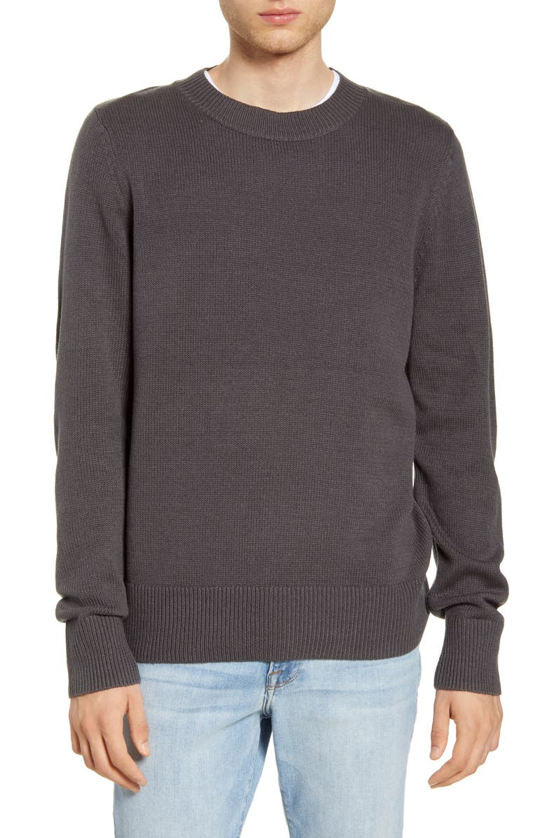BP. Crewneck Sweater, Main, color, GREY ONYX