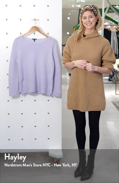 Horizontal Ribbed Organic Linen & Cotton Sweater, sales video thumbnail