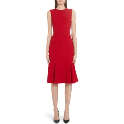 Dolce & gabbana Fluted Hem Dress, US / 44 IT - Red