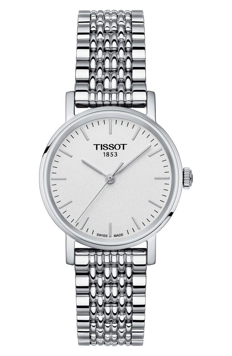 TISSOT Everytime Bracelet Watch, 30mm, Main, color, SILVER