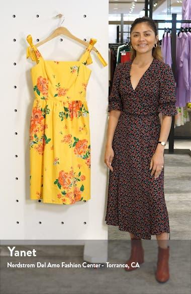Floral Print Tie Strap Sundress, sales video thumbnail