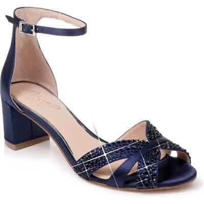 Jewel Badgley Mischka Sequoia Crystal Embellished Ankle Strap Sandal, Blue