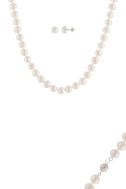 Image of Splendid Pearls 8-8.5mm Cultured Freshwater Pearl 2-Piece Set