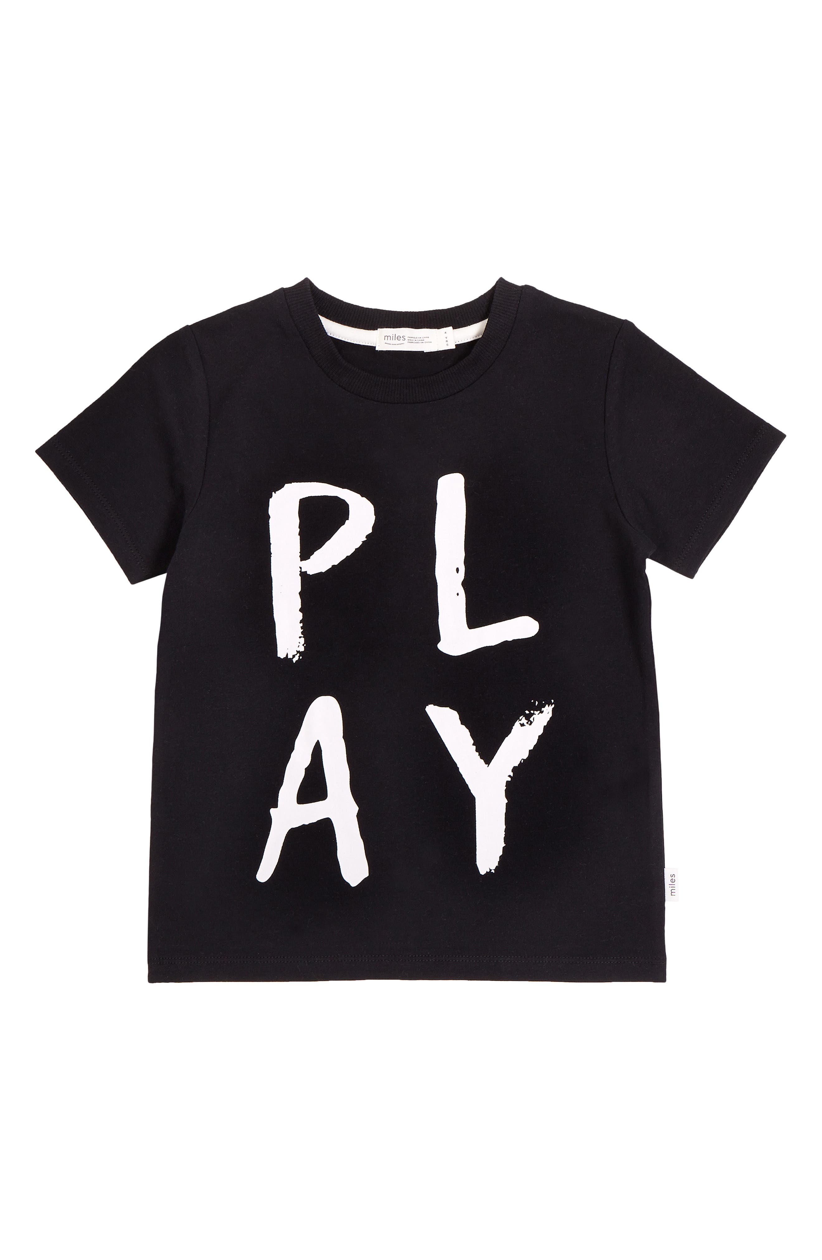 Keep your little one happy and ready to play all day in this comfy graphic tee cut from soft stretch organic cotton. Style Name: Miles Play Graphic Tee (Baby). Style Number: 6087362. Available in stores.