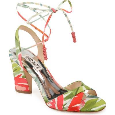 Badgley Mischka Journey Lace-Up Sandal- Green