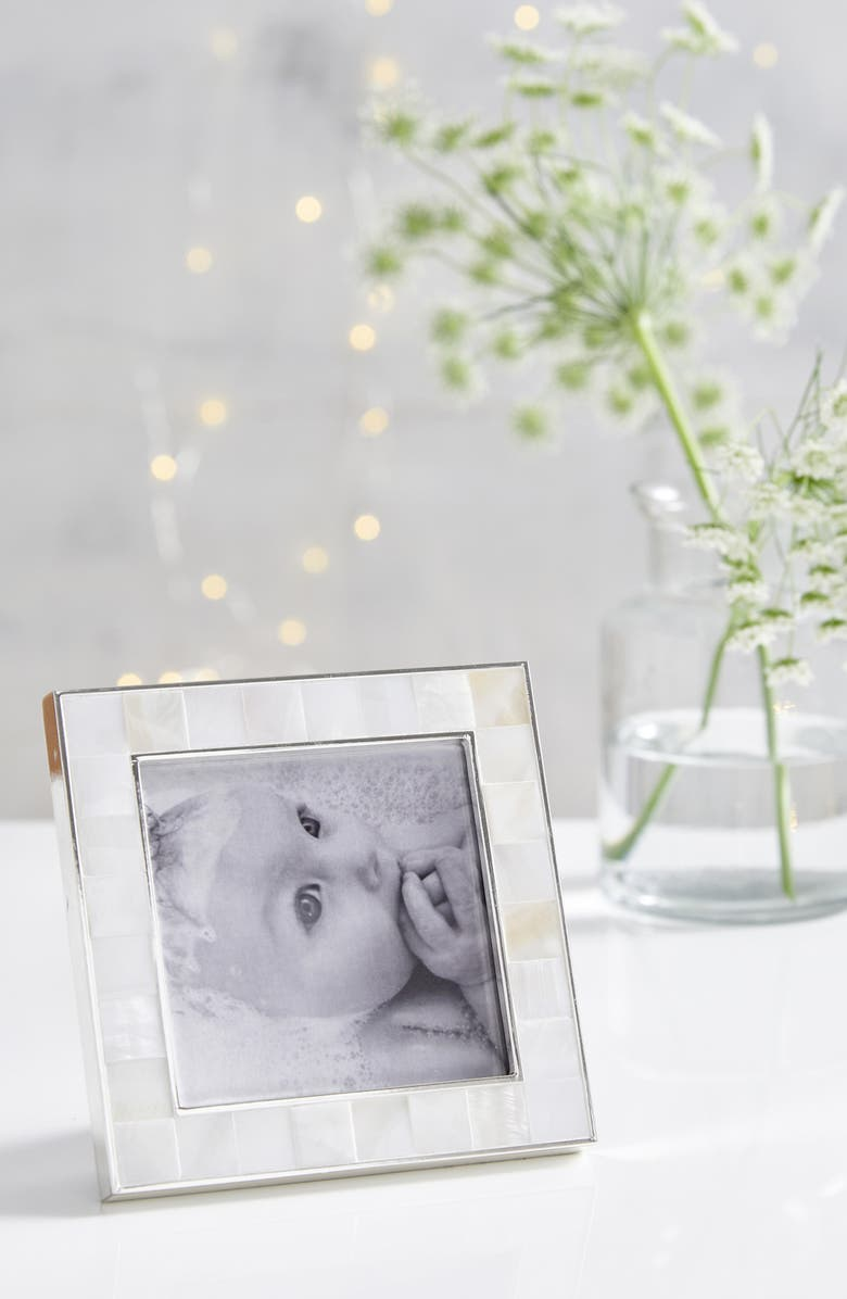 THE WHITE COMPANY Mother of Pearl Picture Frame, Main, color, WHITE