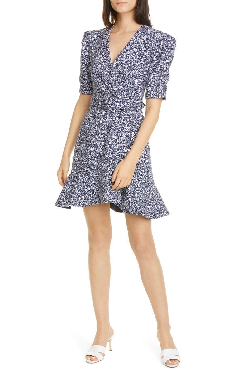 JONATHAN SIMKHAI Evelyn Floral Minidress, Main, color, MIDNIGHT