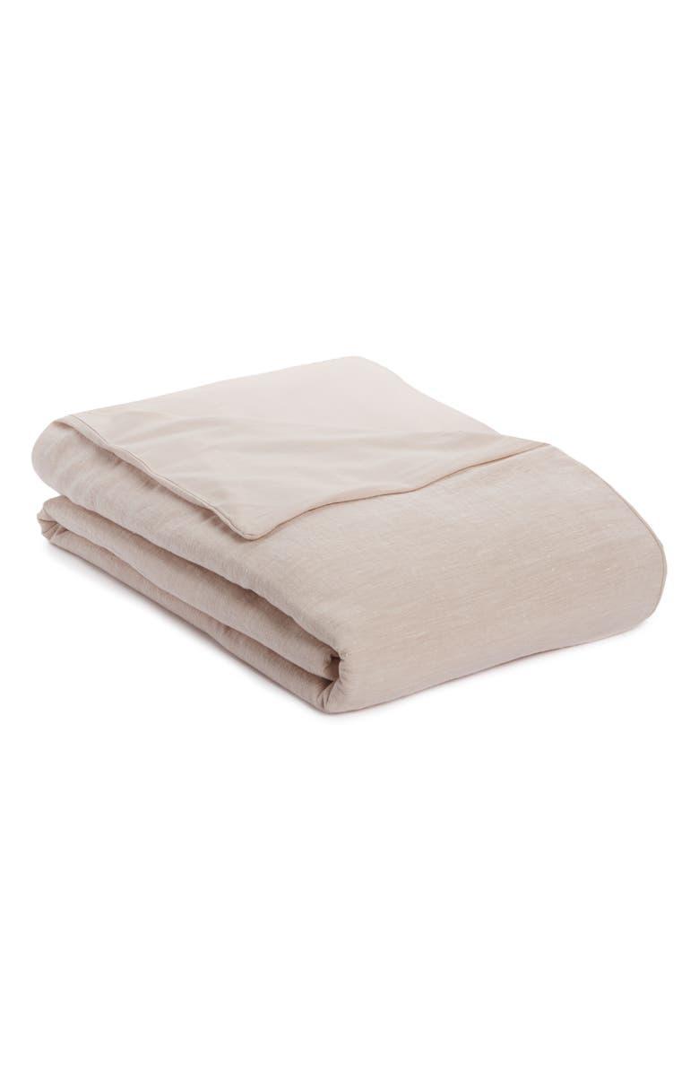 TREASURE & BOND Linen & Cotton Duvet Cover, Main, color, PINK WISP