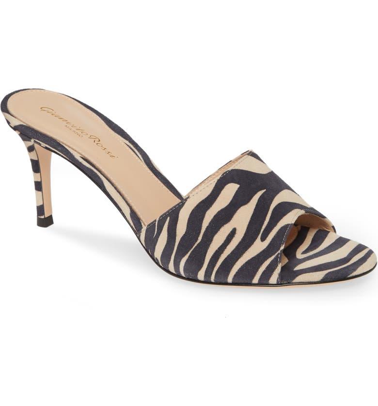 GIANVITO ROSSI Slide Sandal, Main, color, ZEBRA