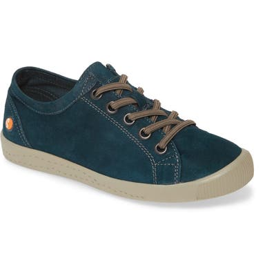 Softinos By Fly London Isla Distressed Sneaker, Blue