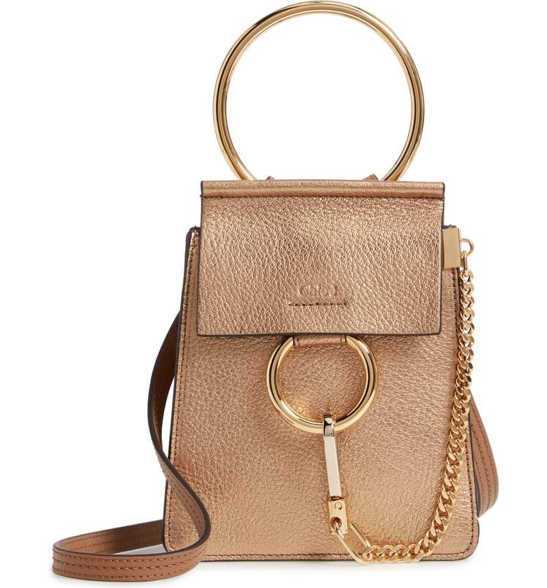 e03df92e Chloé Faye Small Metallic Leather Bracelet Bag | Nordstrom