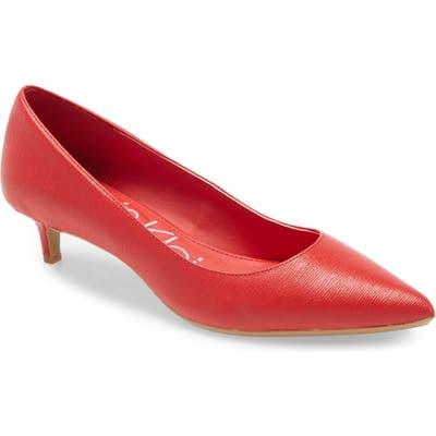 Calvin Klein Gabrianna Pump, Red