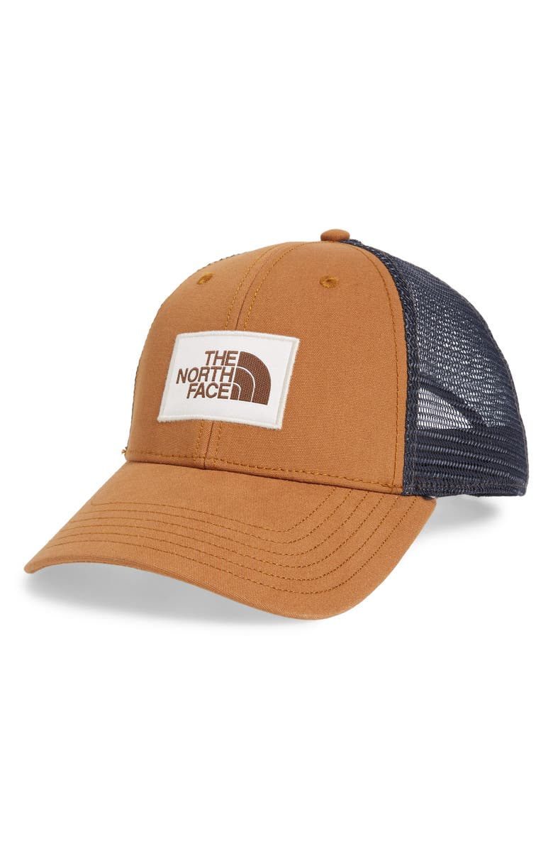 THE NORTH FACE Mudder Trucker Cap, Main, color, CEDAR BROWN/ VINTAGE WHITE