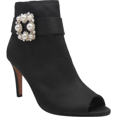 J. Renee Pranati Embellished Open Toe Bootie B - Black